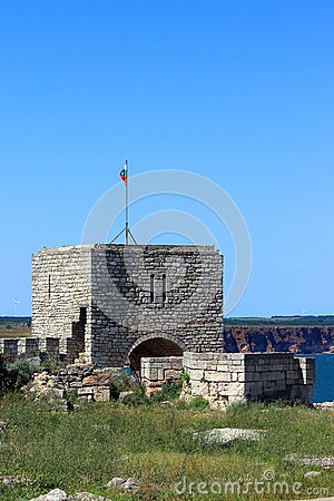 The ruins of a medieval fortress on cape Kaliakra