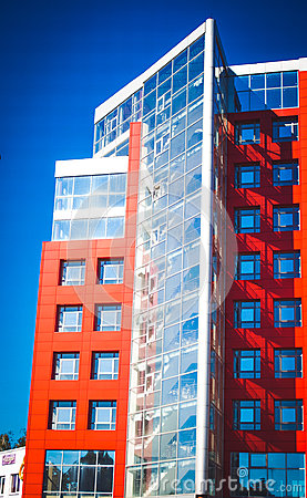 Modern Modernistic Red Building