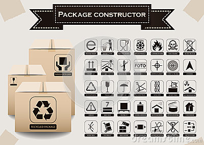 Vector package constructor. Packaging symbols