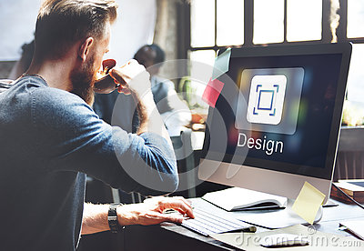 stock image of application design ideas innovation graphic concept
