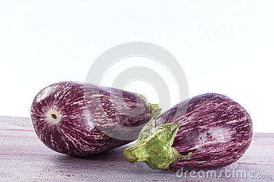 Two Graffiti eggplants
