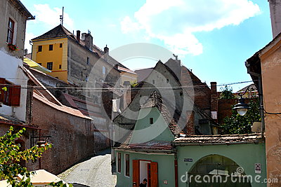 Typical urban landscape in Sibiu, European Capital of Culture for the year 2007