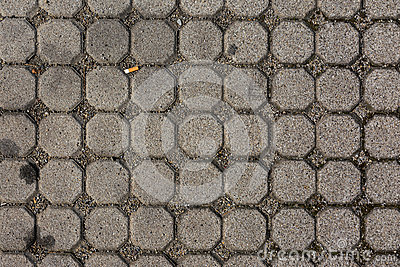 Concrete Octagon Sidewalk Pattern Texture Cigarette Background