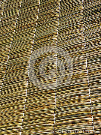 Straw roof texture.