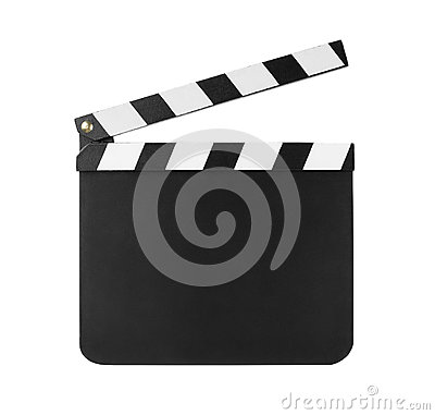 Clapboard isolated on white