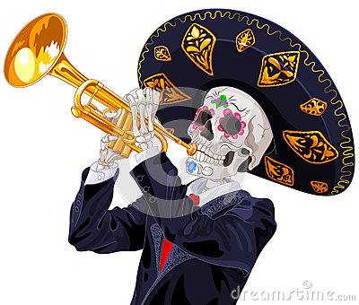 Day of the Dead Trumpet Player