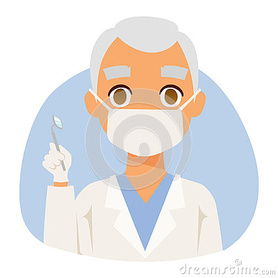 Doctor spetialist avatar face vector