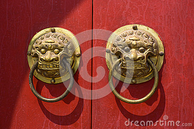 The Lion Ring on the door
