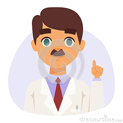 Doctor specialist avatar face vector