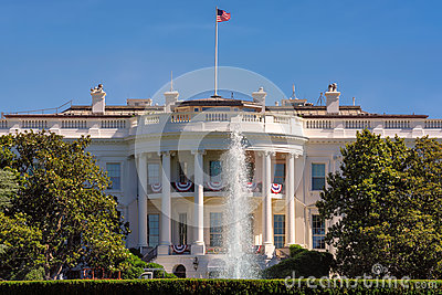 The White House in Washington DC at beautiful day