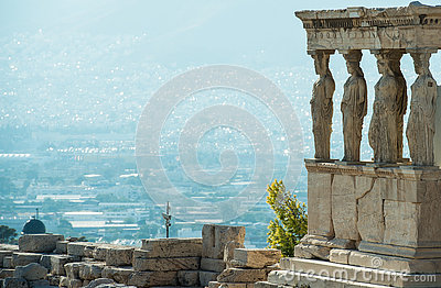 Caryatid porch in Acropolis