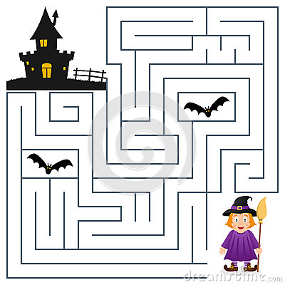 Halloween Maze - Witch and Haunted House