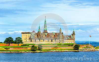 View of Kronborg Castle from Oresund strait - Denmark