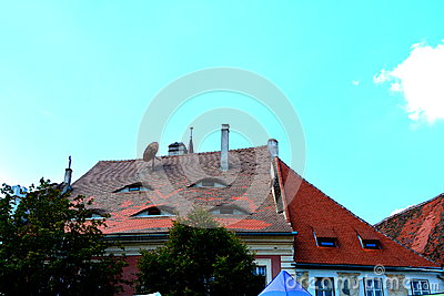 Eyed roof in Sibiu, European Capital of Culture for the year 2007