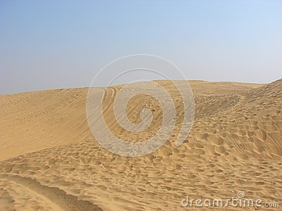 Crescentic Sand Dunes in the Great Rann, Jaisalmer, Rajasthan, India