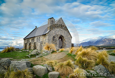 Church of the Good Shepherd built since 1935, Lake Tekapo, New Z