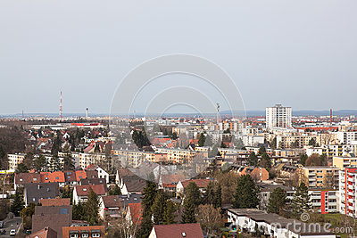 View of the city from the observation deck