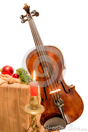 Fiddle to Christmas with candle