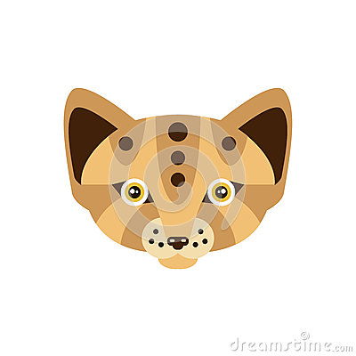 Fox African Animals Stylized Geometric Head