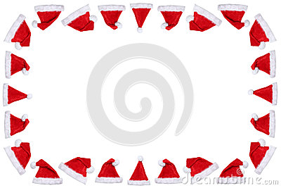 Santa Claus hat hats on Christmas frame copyspace copy space win