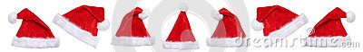 Santa Claus hat hats on Christmas winter isolated