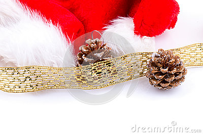 Christmas or New Year background. decoration fir tree branches