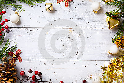 Christmas holidays background with Christmas holidays ornament o
