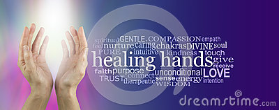 Healing Hands Word Cloud