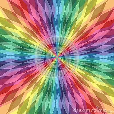 Iridescent  Polygonal  Lines Intersect in the Center. Colorful Transparent  Pattern. Rainbow Geometric Abstract Background
