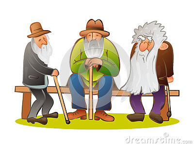 Funny old man stands. Business elderly man smiling, wearing a su