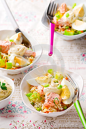 Salmon and Rice Salad.