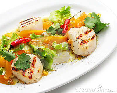 Grill Fish with Vegetables