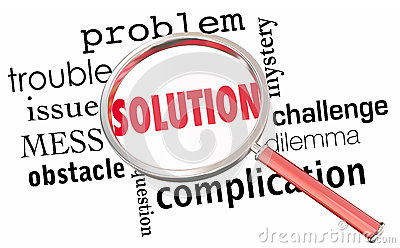 Solution Solve Problem Issue Resolution Magnifying Glas