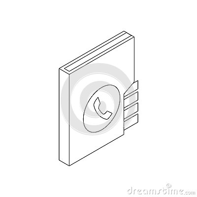 Address book icon, isometric 3d style