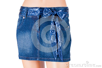 stock image of the skirt on a mannequin