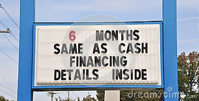 Term Financing Sign