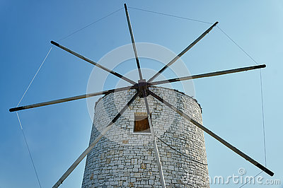 The wings of a traditional windmill