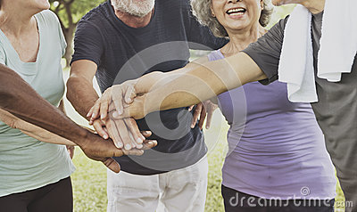 Exercise Healthy Lifestyle Fit Retired Elderly Concept