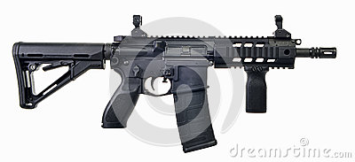 AR15 SBR with 30rd mag and collapsible stock