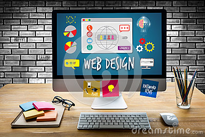 stock image of web design homepage website creativity digital graphic layout w