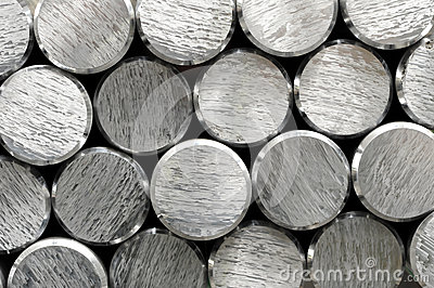 Background texture and pattern of aluminium bars
