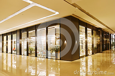 stock image of lobby and shop in commercial building