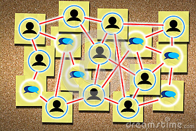 Networking for success concept