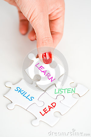 Lead listen and learn suggesting leadership skills as a manager