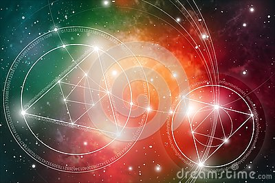 Sacred geometry. Mathematics, nature, and spirituality in Space. The formula of nature.