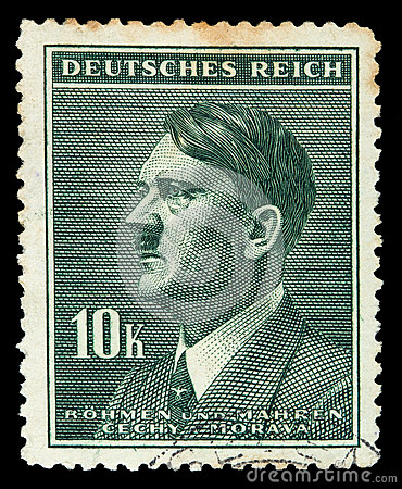 GERMAN REICH. Circa 1939 - c.1944: A postage stamp with portraying of Adolf Hitler