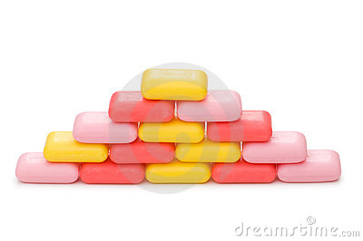 Stack of soap isolated