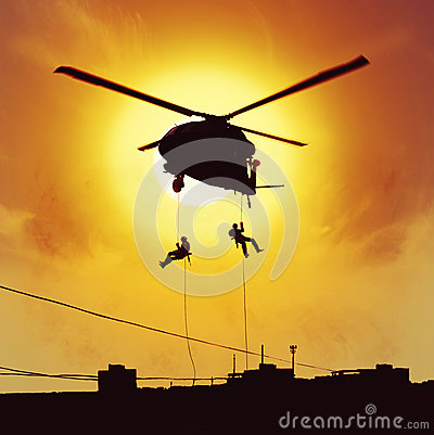 Helicopter assault special forces