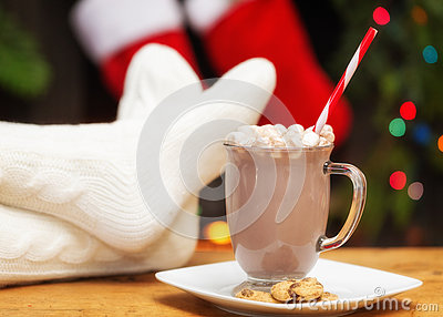 Relaxing With Hot Cocoa at Christmastime