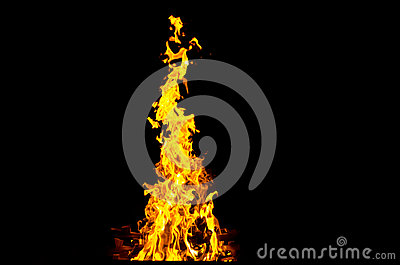 Flames lit the fire, warming his warmth in cold weather. Rules of safe breeding of fire.